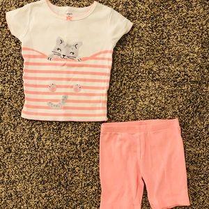 Carter's Toddler Girl Pink Cat Pajamas